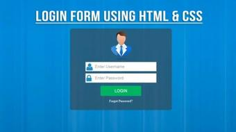 Create Awesome Login Form Using HTML & CSS3 From Scratch course image