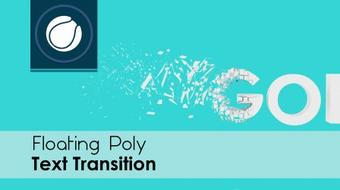 Cinema 4D | Floating Poly Text Transition course image
