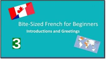 Bite-Sized French for Beginners: Introductions and Greetings course image