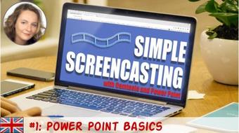 Simple Screencasting with Camtasia and Power Point 01: Power Point Basics course image