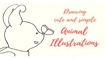 Draw cute and simple animal illustrations course image