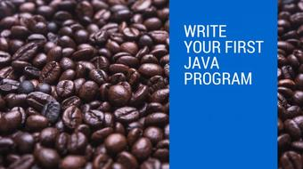 Write your first Java program course image