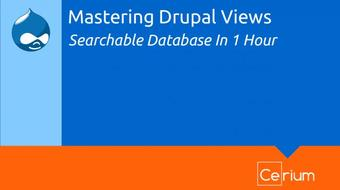 Mastering Drupal Views #1: Build a searchable database in one hour with no coding required! course image