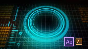 HUD Interface Animation in After Effects and Illustrator (3 of 4) course image