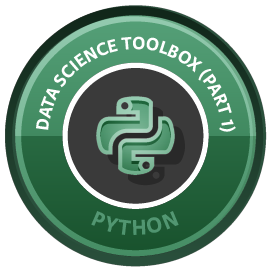 Python Data Science Toolbox (Part 1) course image