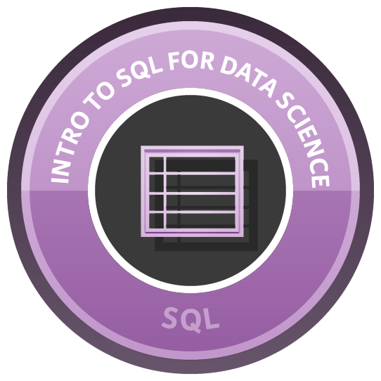 Intro to SQL for Data Science course image