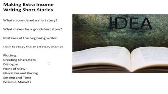 Make Extra Income Writing Short Stories course image