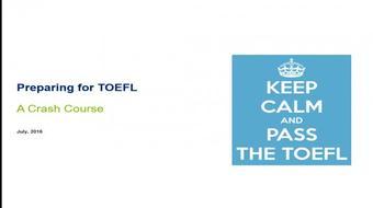 Preparing for TOEFL course image