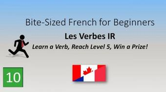IR Verbs: Learn a Verb, Play a Game, Win a Prize! course image