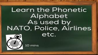 Learn The Phonetic Alphabet In Ten Minutes, or Less course image