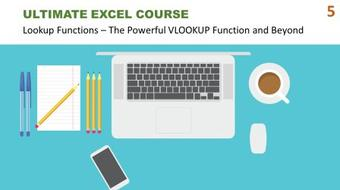 Ultimate Excel Course #5 - Lookup Functions: The Powerful VLOOKUP Function and Beyond course image
