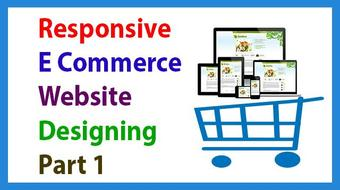 Responsive E commerce Website Designing Without Bootstrap course image