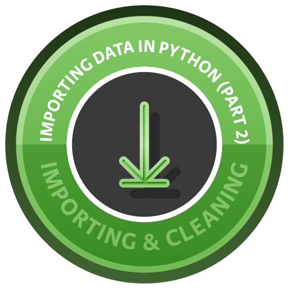 Importing Data in Python (Part 2) course image