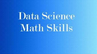 Data Science Math Skills course image