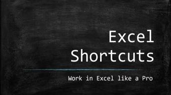 The Ultimate Excel shortcuts guide. course image