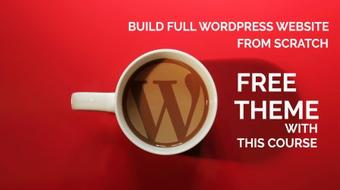 Build an eye-catching WordPress website from scratch course image