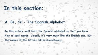 Intensive Spanish: Part 2 - Spelling and Pronunciation course image