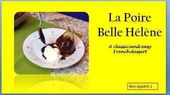 La Poire Belle Hélène: A classic, easy French dessert course image