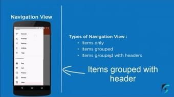 NavigationView Android Material Design Support Library course image