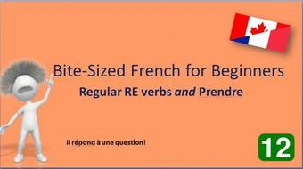 Bite-Sized French for Beginners: RE Verbs course image