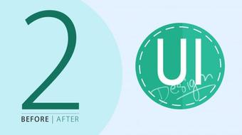 Before and After 2   Website Mock up in Adobe Illustrator course image