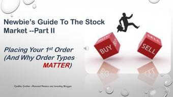 Newbie's Guide to The Stock Market Part II--Order Types course image