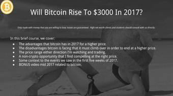 Will Bitcoin Rise To $3000 In 2017? course image