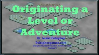 Designing Adventures and Levels 110: Conception course image