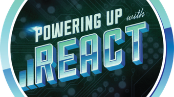 Powering Up With React course image