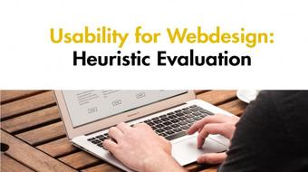 Usability for Webdesign: Heuristic Evaluation course image
