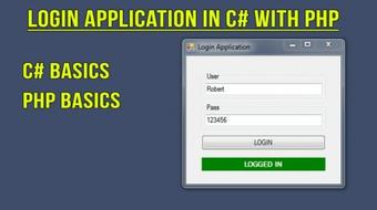 Create Login Application with Online Verification in C# with PHP course image