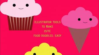 Basic Illustrator Tool: Cute Food Doodles course image