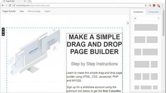 Make a Simple Drag and Drop Page Builder and CMS course image