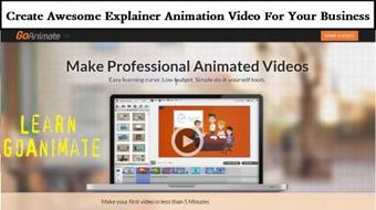 Learn GoAnimate - Create Awesome Explainer Animation Video For Your Business course image