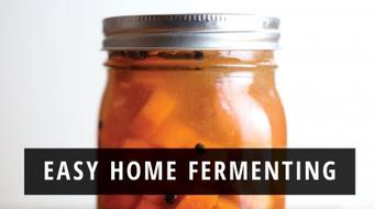 Easy Home Fermenting: Preserving Vegetables with Healthy Probiotics course image