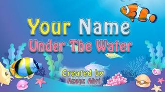 Your Name Under The Water: Animated Gif With Photoshop course image