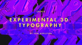 Create experimental 3D typography in Adobe Illustrator and Photoshop course image