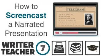 The Writer - Teacher (Part Seven): How to Screencast a Narrated Keynote Presentation course image