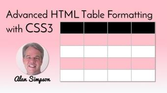 Style HTML5 Tables with CSS3 course image