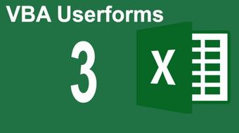 Mastering Excel VBA Userforms Part 2 (Mastering Userform Controls ) course image