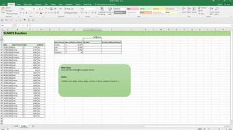 Learn SUMIF,SUMIFS,COUNTIF and COUNTIFS functions in Excel course image