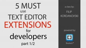 5 Must Use Text Editor Extensions for Web Developers/Designers [Part 1/2] course image