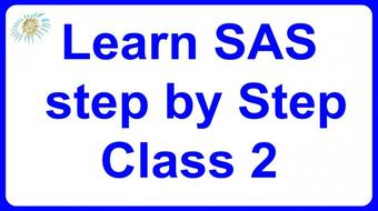 Learn SAS step by Step Class 2 course image