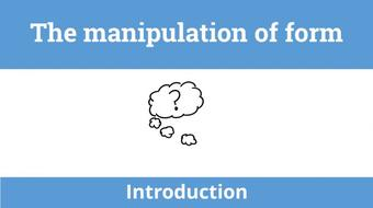 Introduction to form: The manipulation of form course image