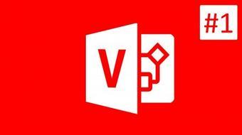 Microsoft Visio 2016 Tutorial - CLASS #1 - Introduction to Microsoft Visio course image
