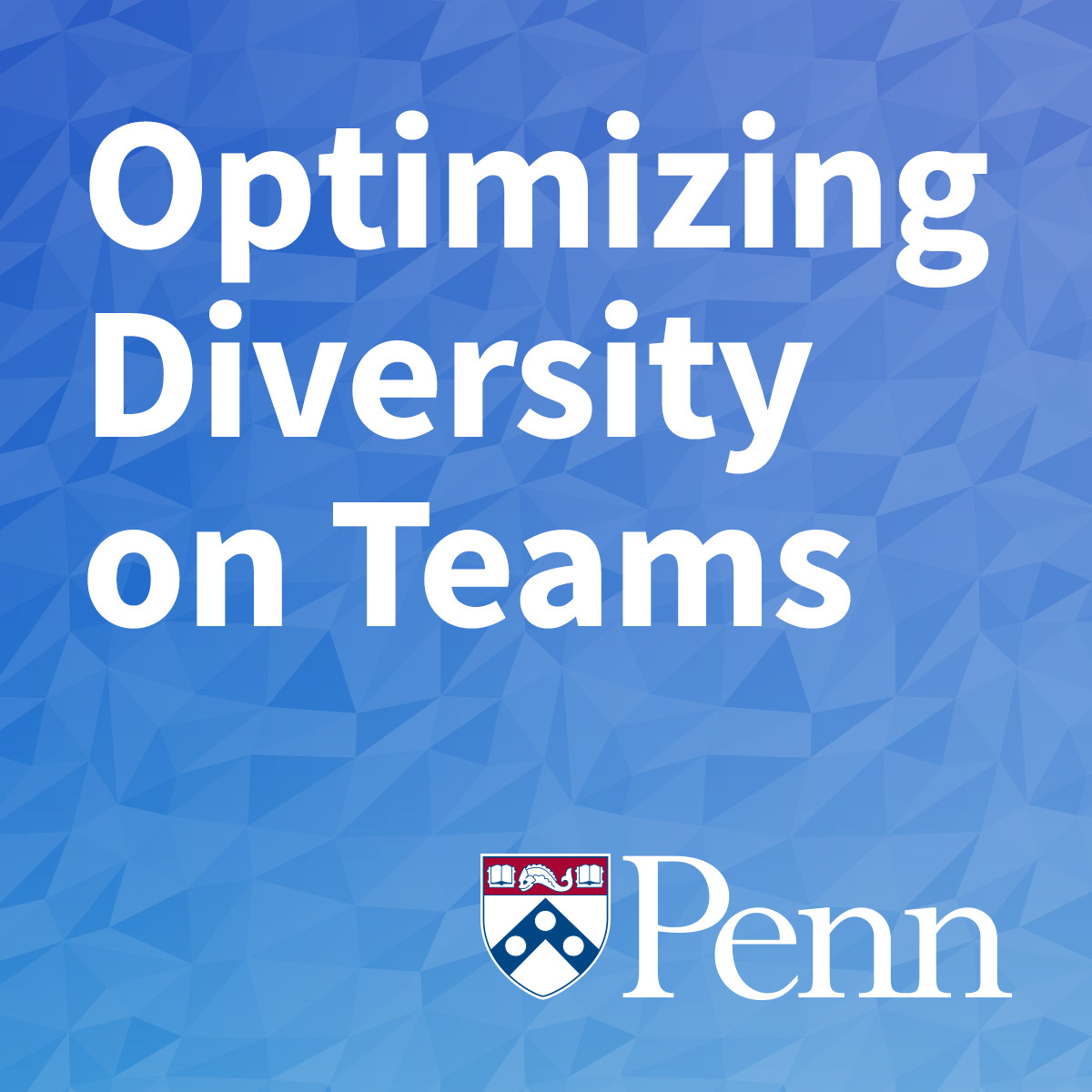 Optimizing Diversity on Teams course image