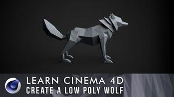Learn Cinema 4D: Low Poly Wolf course image