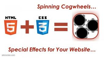 Web Design with HTML5 + CSS3 Special Effects :: Create Stunning Rotating Cogwheels course image