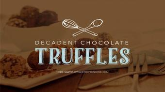 Decadent DIY Chocolate Truffles course image