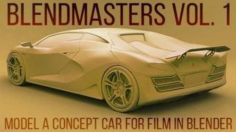 BlendMasters Volume 1: Model a Concept Car for Film in Blender course image
